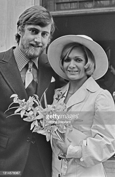 Spencer Compton, 7th Marquess of Northampton, marries Annette Smallwood, UK, January 1974.