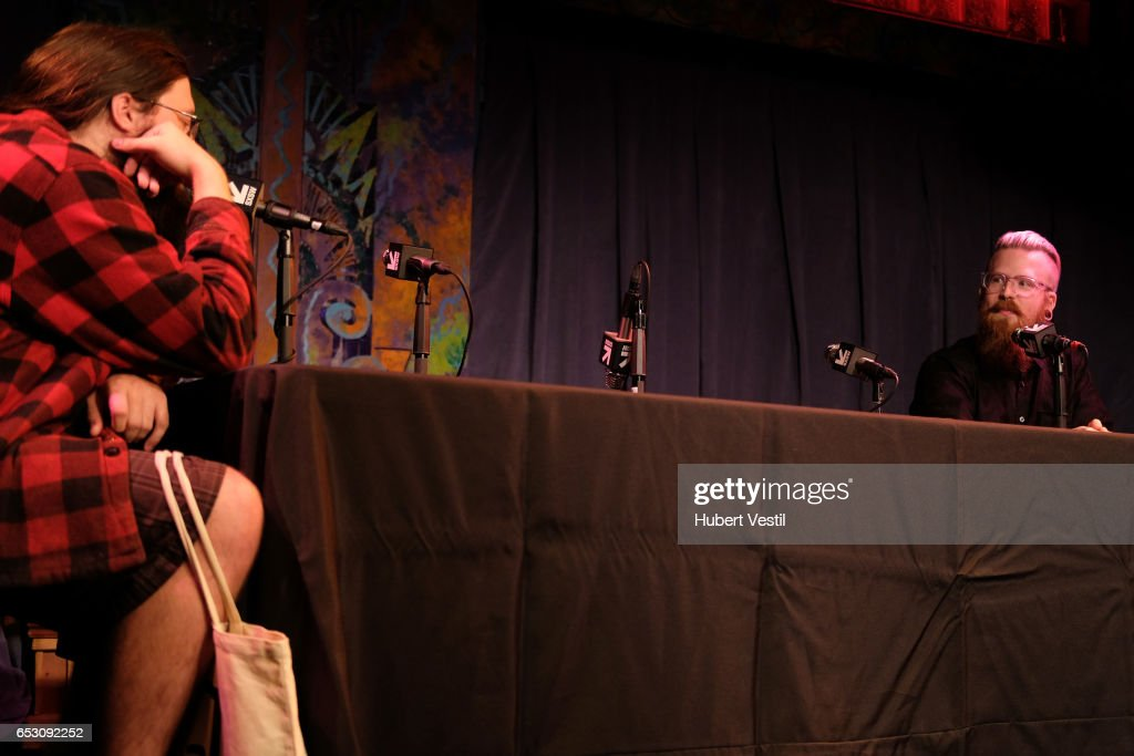 Spencer Crittenden (L) and Adam Koebel perform onstage at HarmonQuest during 2017 SXSW Conference and Festivals at Esther's Follies on March 13, 2017 in Austin, Texas.