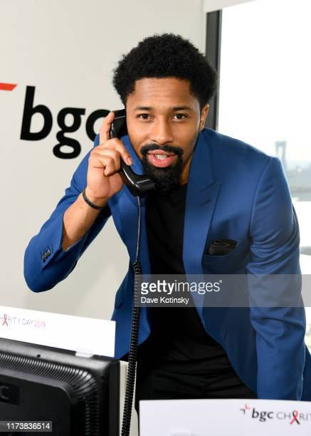 Spencer Dinwiddie attends Annual Charity Day Hosted By Cantor Fitzgerald BGC and GFI BGC Office – Inside on September 11 2019 in New York City