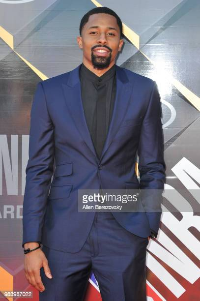 Spencer Dinwiddie attends the 2018 NBA Awards Show at Barker Hangar on June 25 2018 in Santa Monica California