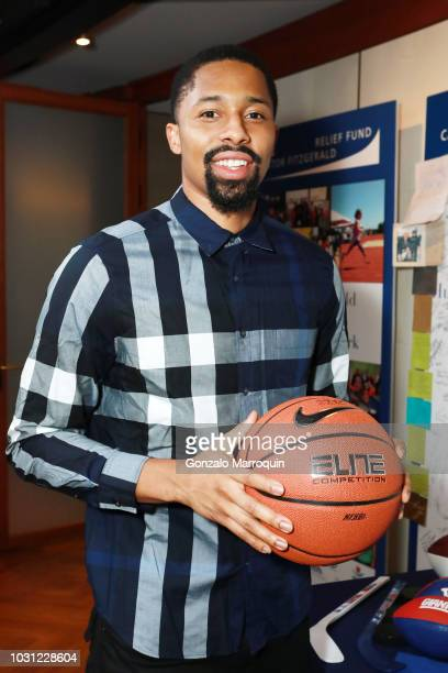 Spencer Dinwiddie attends the Annual Charity Day hosted by Cantor Fitzgerald BGC and GFI at Cantor Fitzgerald on September 11 2018 in New York City