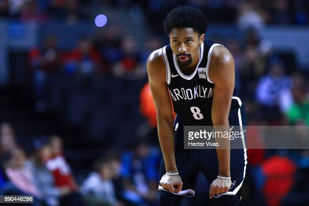 Spencer Dinwiddie of Brooklyn Nets looks on during the NBA game between the Brooklyn Nets and Miami Heat at Arena Ciudad de Mexico on December 9 2017...
