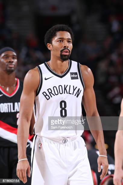 Spencer Dinwiddie of the Brooklyn Nets during the game against the Portland Trail Blazers on November 10 2017 at the Moda Center in Portland Oregon...