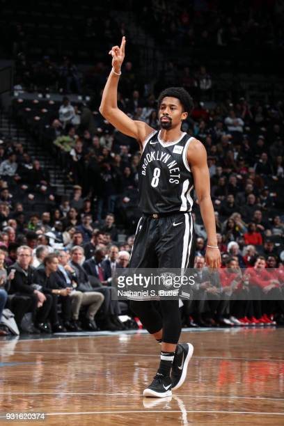 Spencer Dinwiddie of the Brooklyn Nets during the game against the Toronto Raptors on March 13 2018 at Barclays Center in Brooklyn New York NOTE TO...