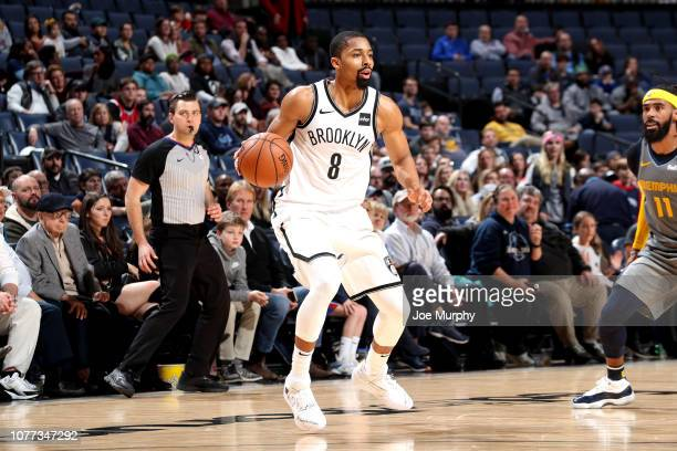 Spencer Dinwiddie of the Brooklyn Nets handles the ball against the Memphis Grizzlies on January 4 2019 at FedExForum in Memphis Tennessee NOTE TO...