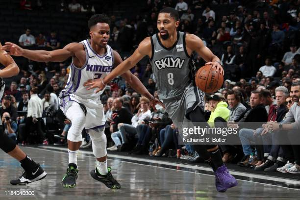 Spencer Dinwiddie of the Brooklyn Nets handles the ball against the Brooklyn Nets on November 22 2019 at Barclays Center in Brooklyn New York NOTE TO...