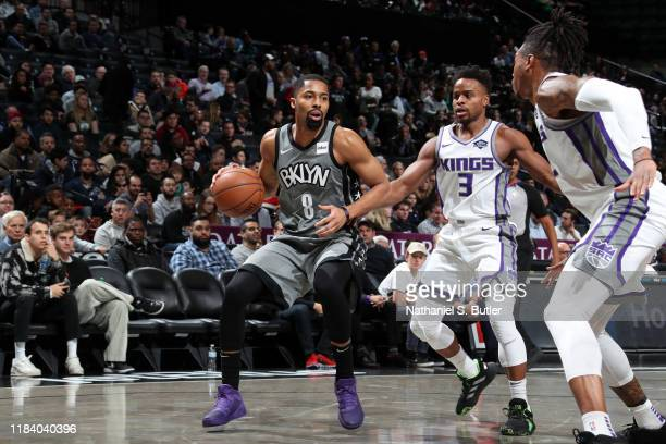 Spencer Dinwiddie of the Brooklyn Nets handles the ball against the Sacramento Kings on November 22 2019 at Barclays Center in Brooklyn New York NOTE...