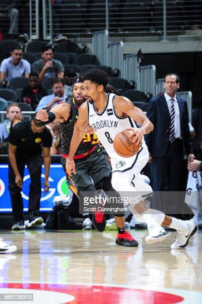 Spencer Dinwiddie of the Brooklyn Nets handles the ball against the Atlanta Hawks on December 4 2017 at Philips Arena in Atlanta Georgia NOTE TO USER...