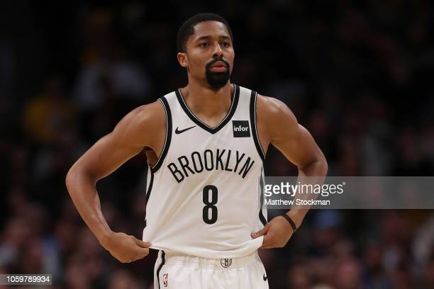 Spencer Dinwiddie of the Brooklyn Nets plays the Denver Nuggets at the Pepsi Center on November 9 2018 in Denver Colorado NOTE TO USER User expressly...