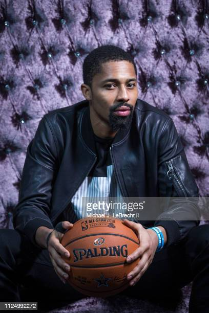 Spencer Dinwiddie of the Brooklyn Nets poses for portraits during the NBAE Circuit as part of 2019 NBA AllStar Weekend on February 14 2019 at the...