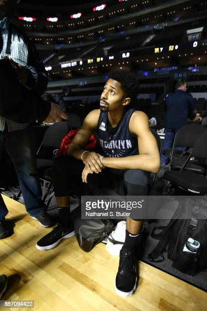 Spencer Dinwiddie of the Brooklyn Nets speaks to the media as part of the NBA Mexico Games 2017 on December 6 2017 at the Arena Ciudad de México in...