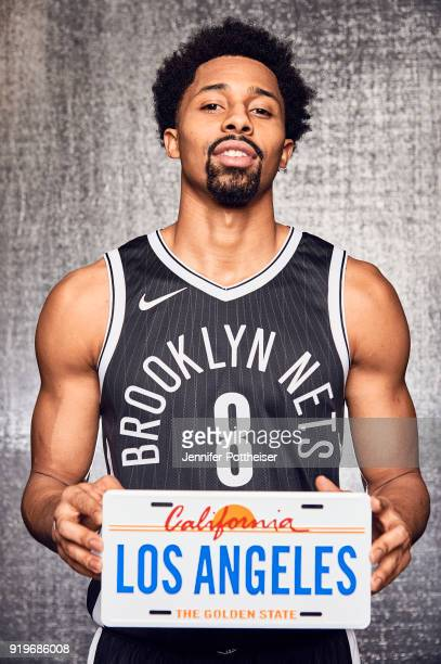 Spencer Dinwiddie of the Brooklyne Nets poses for a portrait during AllStar Saturday Night as part of 2018 NBA AllStar Weekend on February 17 2018 at...