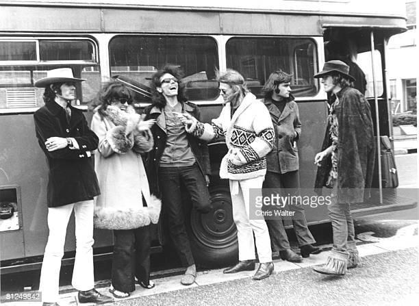 Spencer Dryden Grace Slick Jorma Kaukonen Jack Casady Marty Balin and Paul Kantner of Jefferson Airplane in London 1968