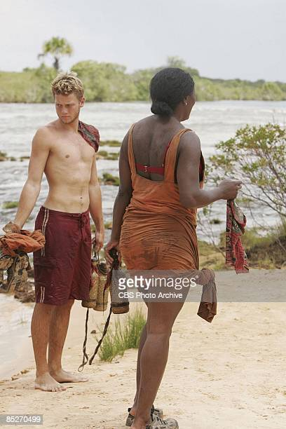 Spencer Duhm and Tamara 'Taj' JohnsonGeorge Timbira tribe during the immunity challenge 'Try Any Angle' during the fourth episode of SURVIVOR...