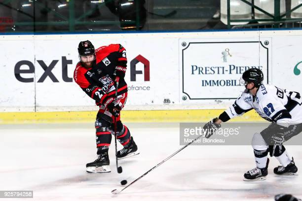 Spencer Edwards of Bordeaux during the Magnus League Playoff match between Bordeaux and Gap on February 28 2018 in Bordeaux France