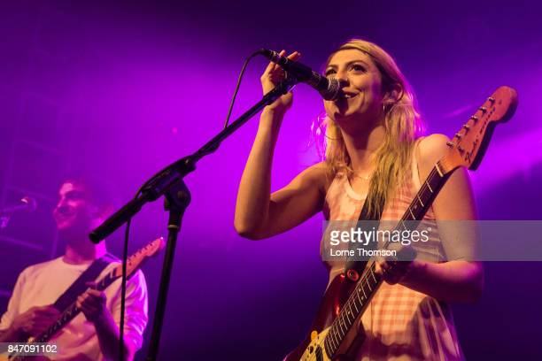 Spencer Fox and Eva Hendricks of Charly Bliss perform at The Garage on September 14 2017 in London England