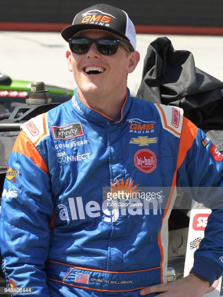 Spencer Gallagher GMS Racing Allegiant Airlines Chevrolet Camaro before the Xfinity Series Fitzgerald Glider Kits 300 on April 14 at Bristol Motor...