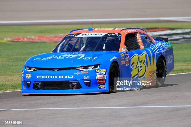 Spencer Gallagher GMS Racing Chevrolet Camaro ZL1 during practice for the DC Solar 300 NASCAR Xfinity Series Playoff Race on September 14 at Las...