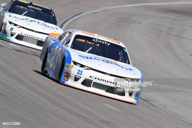 Spencer Gallagher GMS Racing Chevrolet SS racing during the Boyd Gaming 300 NASCAR Xfinity Series race on March 11 2017 at Las Vegas Motor Speedway...