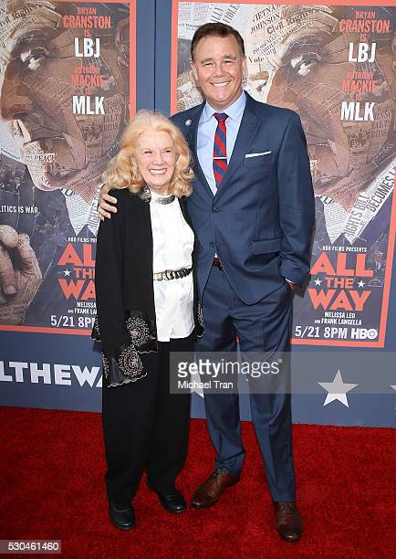 Spencer Garrett and his mom Kathleen Nolan arrive at the premiere of HBO's All The Way held at Paramount Studios on May 10 2016 in Hollywood...