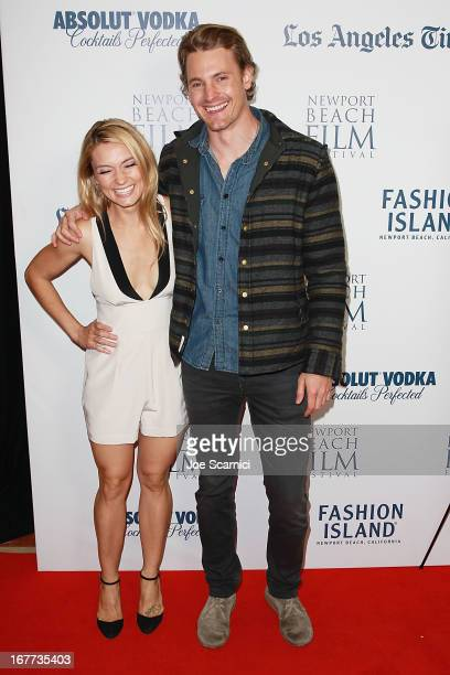 Spencer Grammer and Josh Pence attend the 2013 Newport Beach Film Festival In Lieu Of Flowers World Premiere at Triangle Square Theater on April 28...