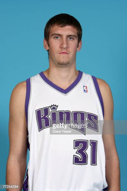 Spencer Hawes of the Sacramento Kings poses for a portrait during Media Day on October 1 2007 at the Practice Facility in Sacramento California NOTE...