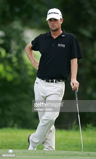 Spencer Levin of the USA prepares to putt during the first round of the John Deere Classic at TPC Deere Run held on July 9 2009 in Silvis Illinois