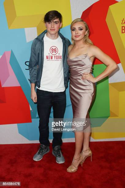 Spencer List and Peyton List attend the 7th Annual 2017 Streamy Awards at The Beverly Hilton Hotel on September 26 2017 in Beverly Hills California