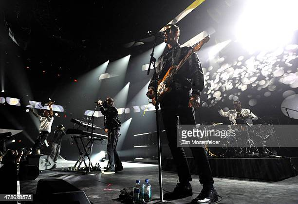 Spencer Ludwig, Sebu Simonian and Ryan Merchant of Capital Cities perform as part of the iTunes Festival At SXSW at Moody Theater on March 13, 2014...
