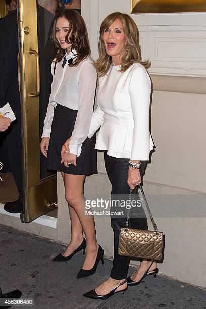 Spencer Margaret Richmond and actress Jaclyn Smith attend 'You Can't Take It With You' opening night at Longacre Theatre on September 28 2014 in New...