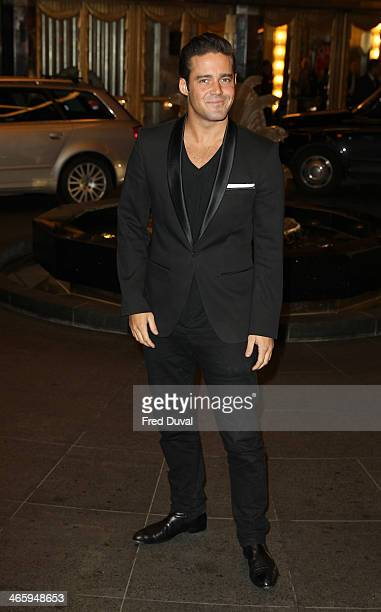 Spencer Matthew attends 'Kate Moss At The Savoy' an exhibition of never before seen photographers of Kate Moss at The Savoy Hotel on January 30 2014...