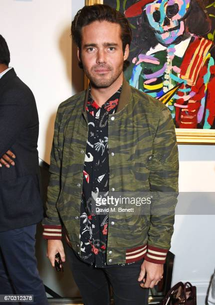Spencer Matthews attends a VIP private view for New York artist Bradley Theodore at Maddox Gallery on April 19 2017 in London England