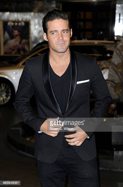 Spencer Matthews attends 'Kate Moss At The Savoy' an exhibition of never before seen photographies of Kate Moss at The Savoy Hotel on January 30 2014...