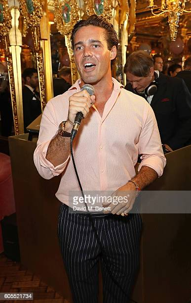 Spencer Matthews attends Sabrina Ho's birthday party at Oscar Wilde Bar Hotel Cafe Royal on September 12 2016 in London England