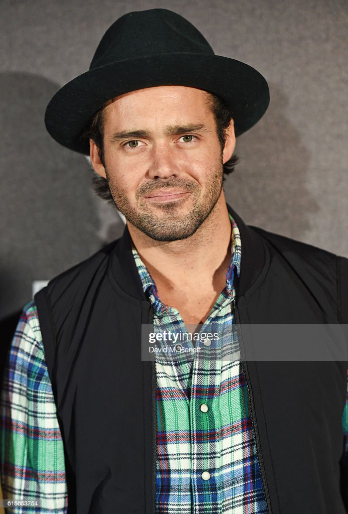 Spencer Matthews attends the Global VIP Reveal of the new Triumph Bonneville Bobber on October 19, 2016 in London, England.