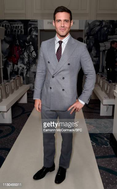 Spencer Matthews attends the Paul Costelloe presentation during London Fashion Week February 2019 at the Simpsons in the Strand on February 18 2019...