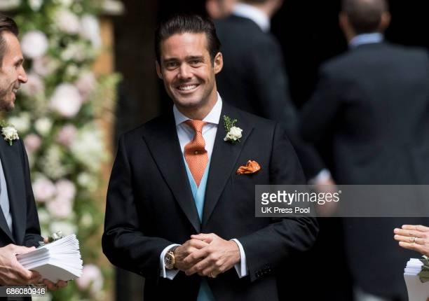 Spencer Matthews attends the wedding of Pippa Middleton and James Matthews at St Mark's Church on May 20 2017 in Englefield Green England