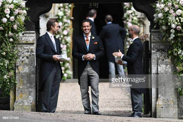 Spencer Matthews brother of James Matthews attends the wedding of Pippa Middleton and James Matthews at St Mark's Church on May 20 2017 in Englefield...
