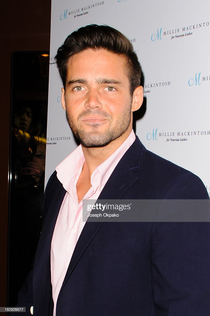 Spencer Matthews from the cast of Made in Chelsea attends the launch of Millie Mackintosh's Nouveau lashes at Sanctum Soho on September 18, 2012 in London, England.