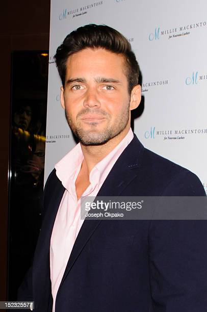 Spencer Matthews from the cast of Made in Chelsea attends the launch of Millie Mackintosh's Nouveau lashes at Sanctum Soho on September 18 2012 in...