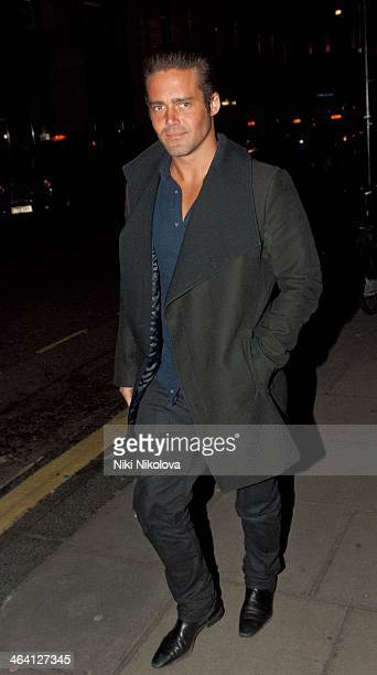 Spencer Matthews is seen in Mayfair on January 20 2014 in London England