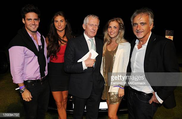 Spencer Matthews Nick Hewer and Bordan Tkachuk attend Concours D'Elegance at The Hurlingham Club on July 29 2011 in London England