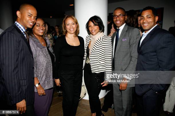 Spencer Means Lashawn Talley Nancy Armand Lynn Whitfield Reggie Canal and Derek Fleming attend TABLET 10 MAGAZINE Launch at Crosby Hotel on April 15...