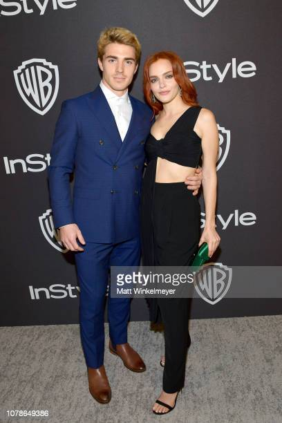 Spencer Neville and Madeline Brewer attend the 2019 InStyle and Warner Bros 76th Annual Golden Globe Awards PostParty at The Beverly Hilton Hotel on...