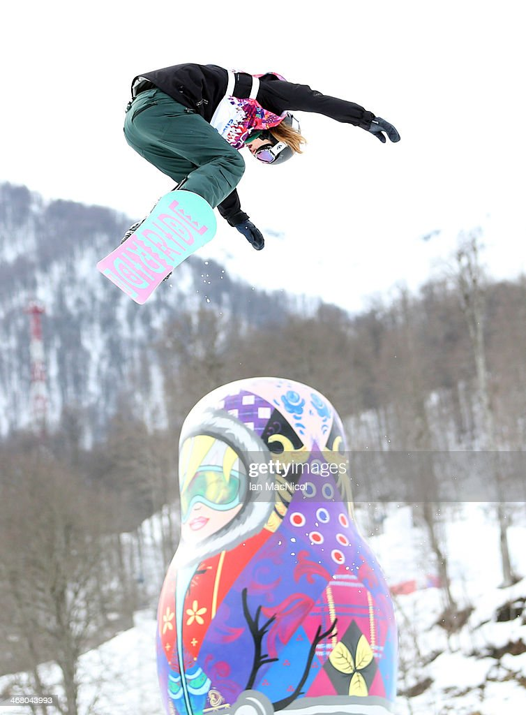 Spencer O'Brien of Canada competes during the Snowboard Women's Slopestyle Final during day 2 of the Sochi 2014 Winter Olympics at Rosa Khutor Extreme Park on February 9, 2014 in Sochi, Russia.