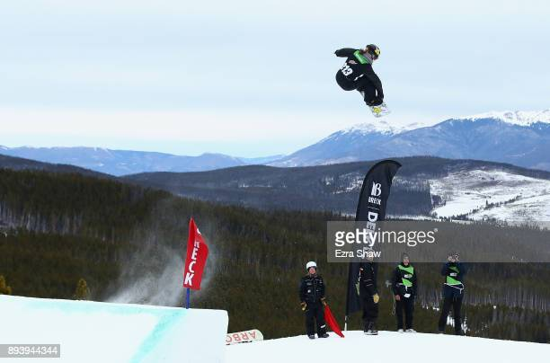 Spencer O'Brien of Canada competes in the women's snowboard Slopestyle Final during Day 4 of the Dew Tour on December 16 2017 in Breckenridge Colorado