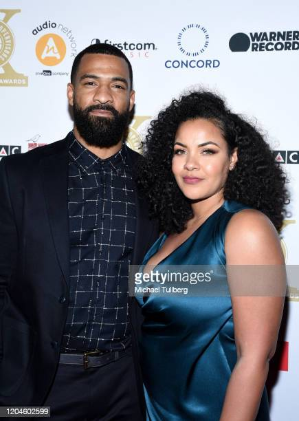 Spencer Paysinger and Blair Paysinger attend the 10th annual Guild of Music Supervisors Awards at The Wiltern on February 06 2020 in Los Angeles...