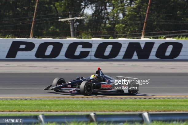 Spencer Pigot driver of the Ed Carpenter Racing Chevrolet drives during the IndyCar Series ABC Supply 500 on August 18 2019 at Pocono Raceway in Long...