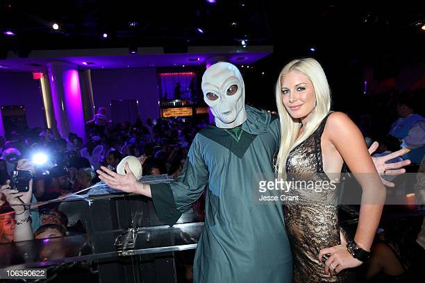 Spencer Pratt and Heidi Montag attend a Halloween party at PURE Nightclub hosted by Heidi Montag on October 30 2010 in Las Vegas Nevada