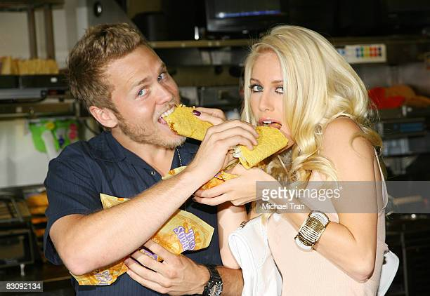 Spencer Pratt and Heidi Montag attend the Reality Check Challenge held at Taco Bell on October 2 2008 in Los Angeles California